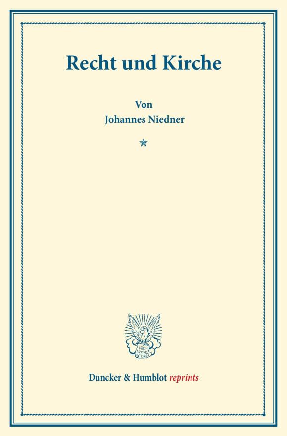 Cover Recht und Kirche