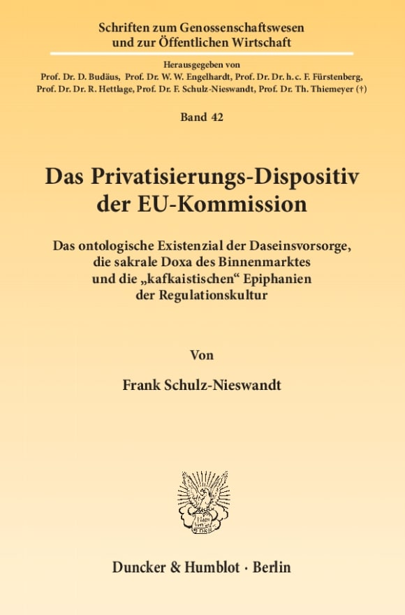 Cover Das Privatisierungs-Dispositiv der EU-Kommission