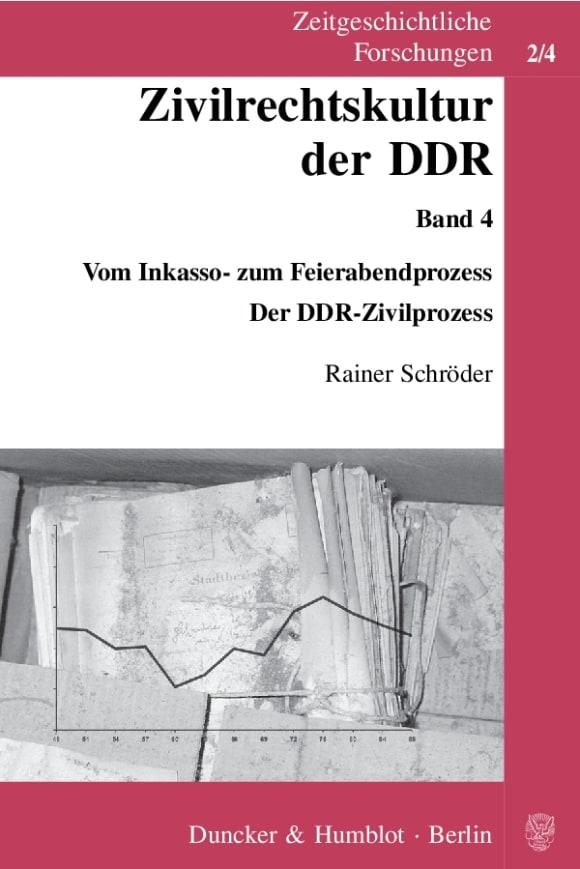 Cover Zivilrechtskultur der DDR