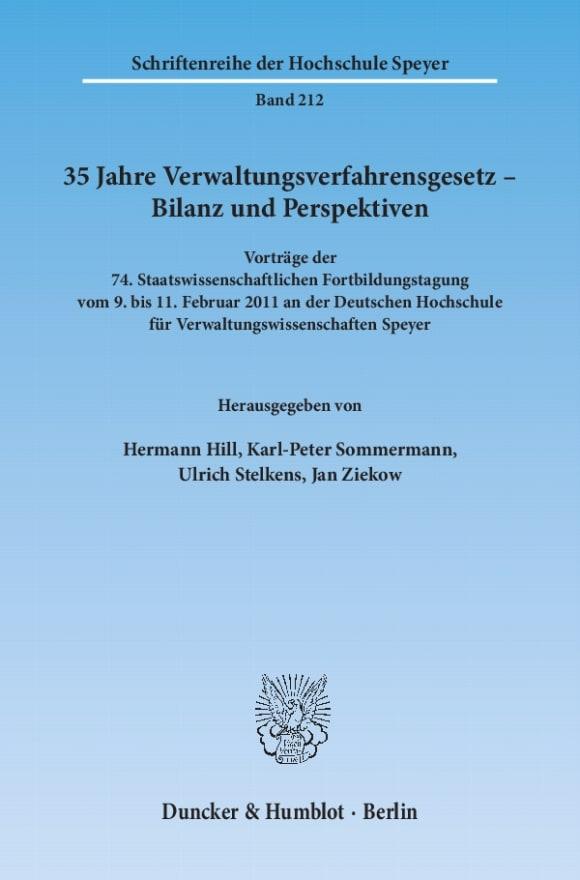 Cover 35 Jahre Verwaltungsverfahrensgesetz – Bilanz und Perspektiven