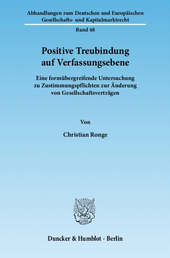 Cover Positive Treubindung auf Verfassungsebene