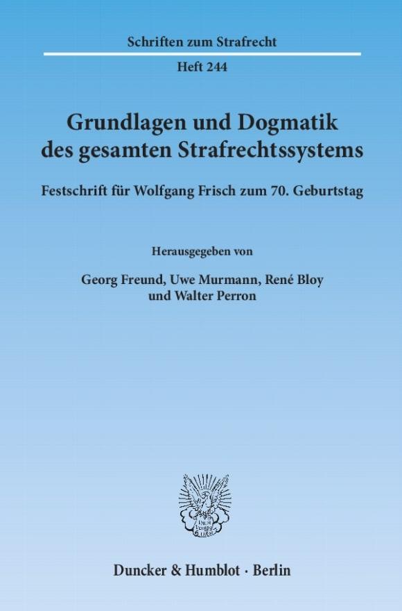 Cover Grundlagen und Dogmatik des gesamten Strafrechtssystems