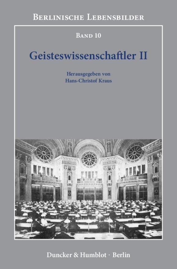 Cover Geisteswissenschaftler II