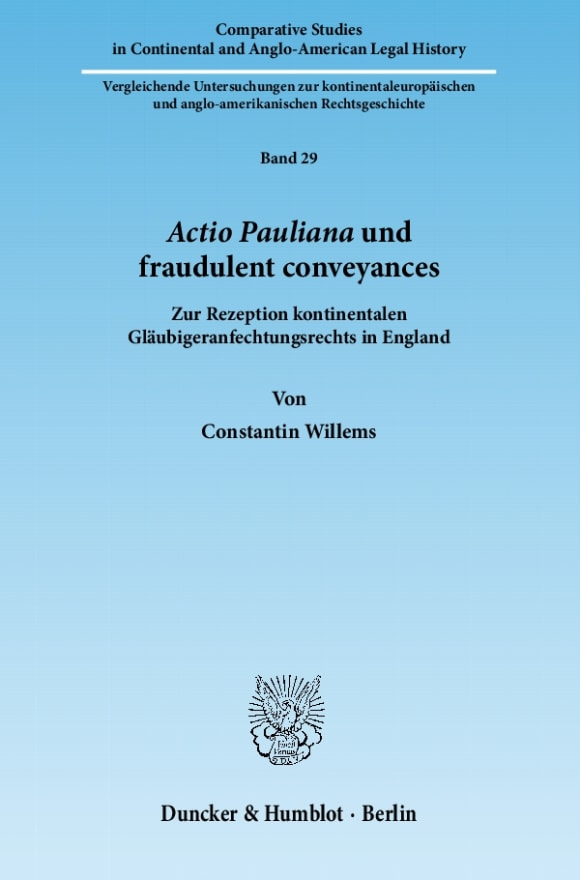 Cover Actio Pauliana und fraudulent conveyances