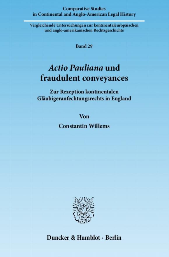 Cover Actio Pauliana und fraudulent conveyances