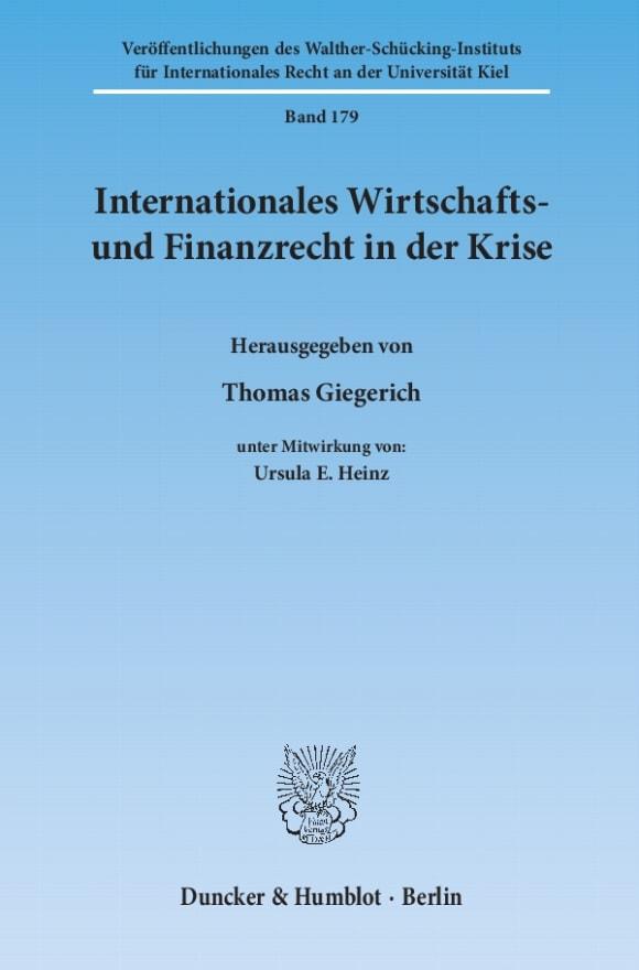 Cover Internationales Wirtschafts- und Finanzrecht in der Krise