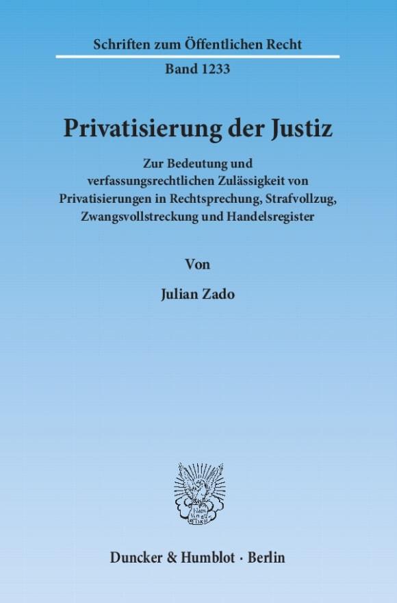 Cover Privatisierung der Justiz