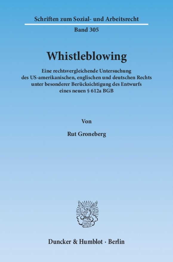 Cover Whistleblowing