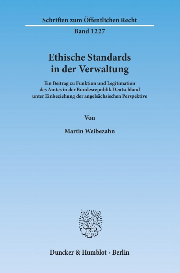 Cover Ethische Standards in der Verwaltung