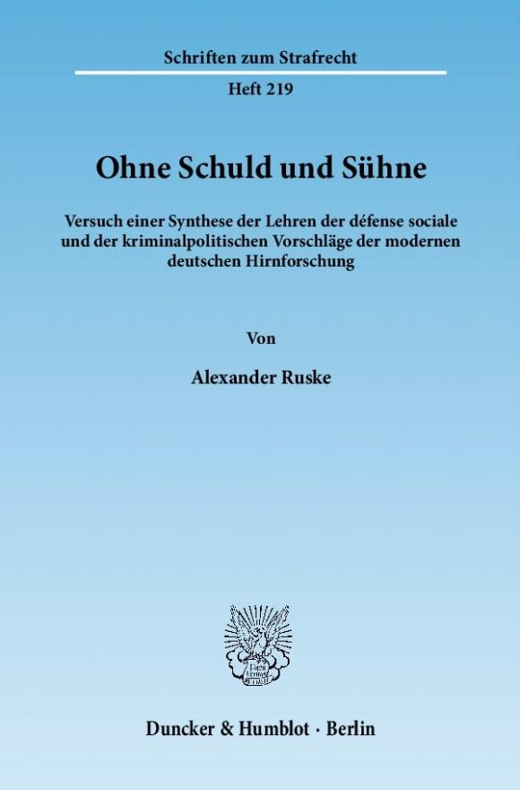 Cover Ohne Schuld und Sühne