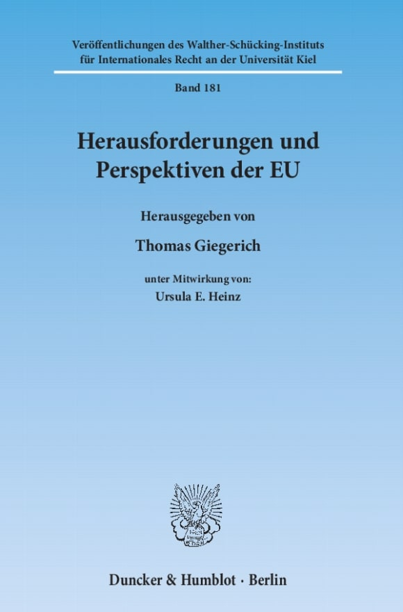 Cover Herausforderungen und Perspektiven der EU