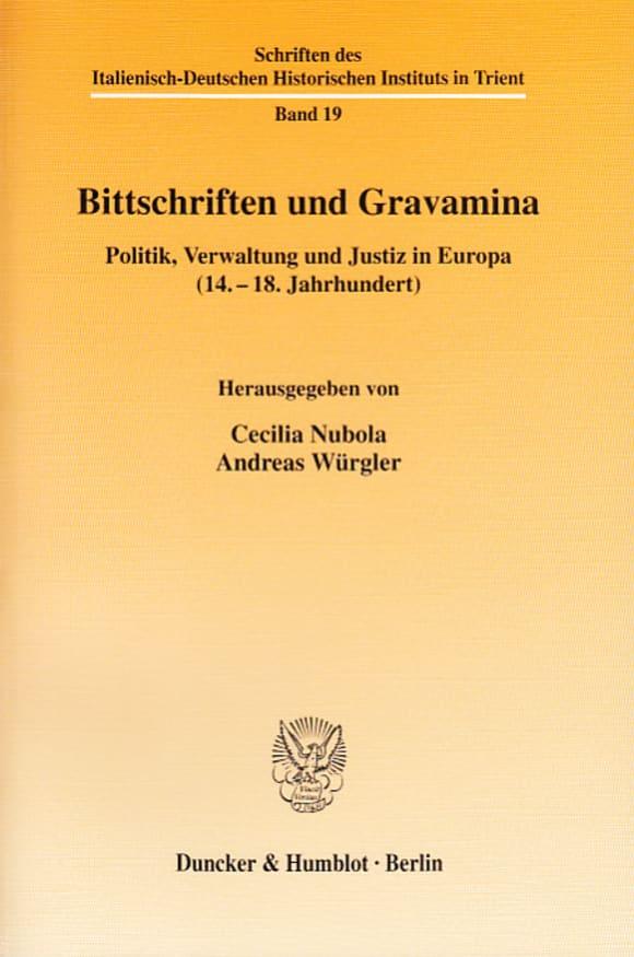 Cover Bittschriften und Gravamina