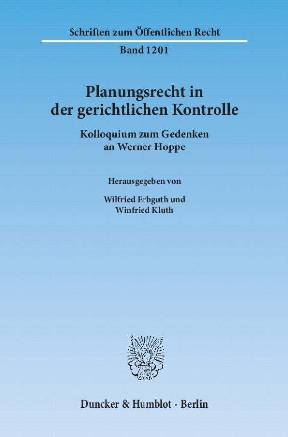 Cover Planungsrecht in der gerichtlichen Kontrolle