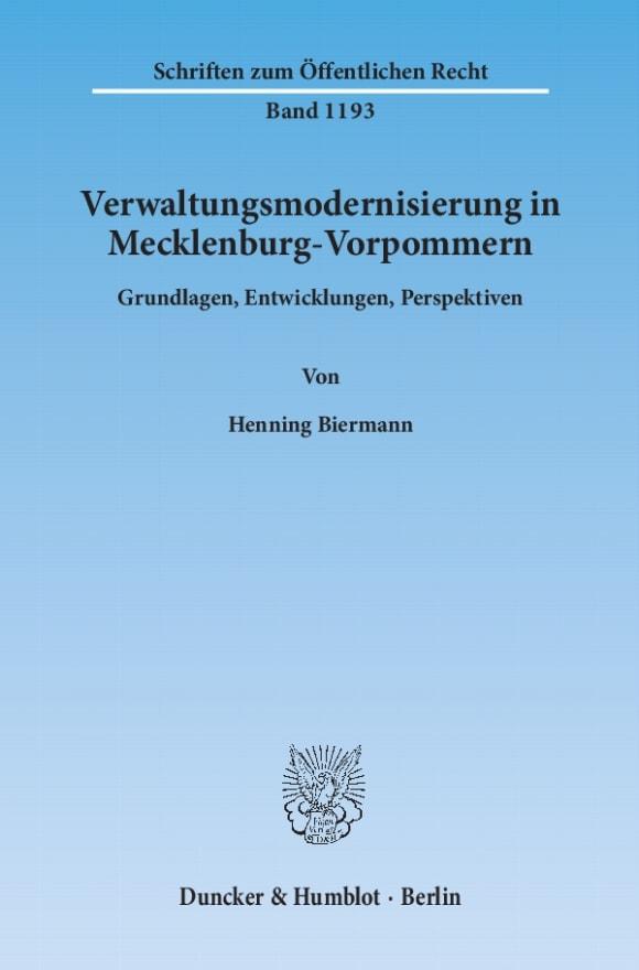 Cover Verwaltungsmodernisierung in Mecklenburg-Vorpommern