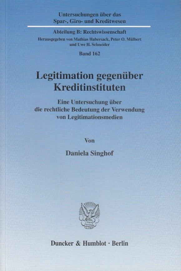 Cover Legitimation gegenüber Kreditinstituten