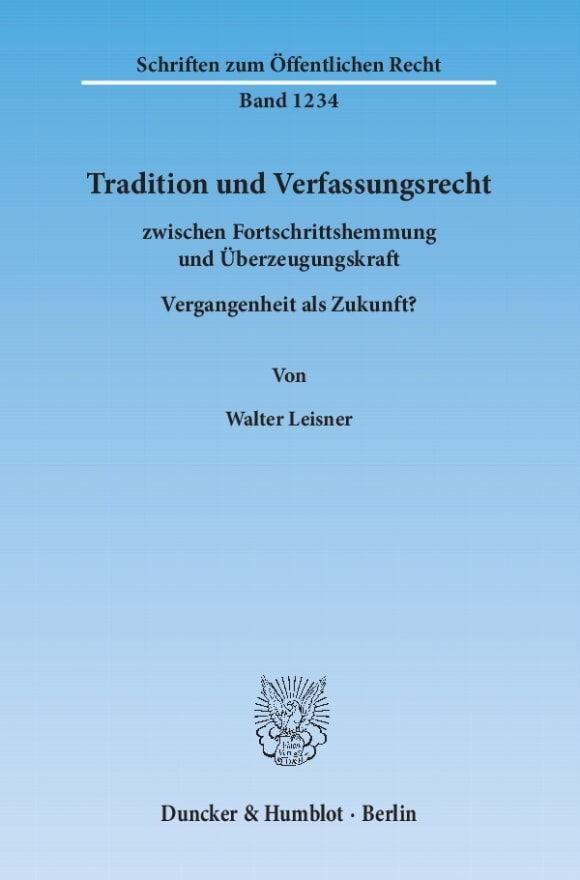 Cover Tradition und Verfassungsrecht
