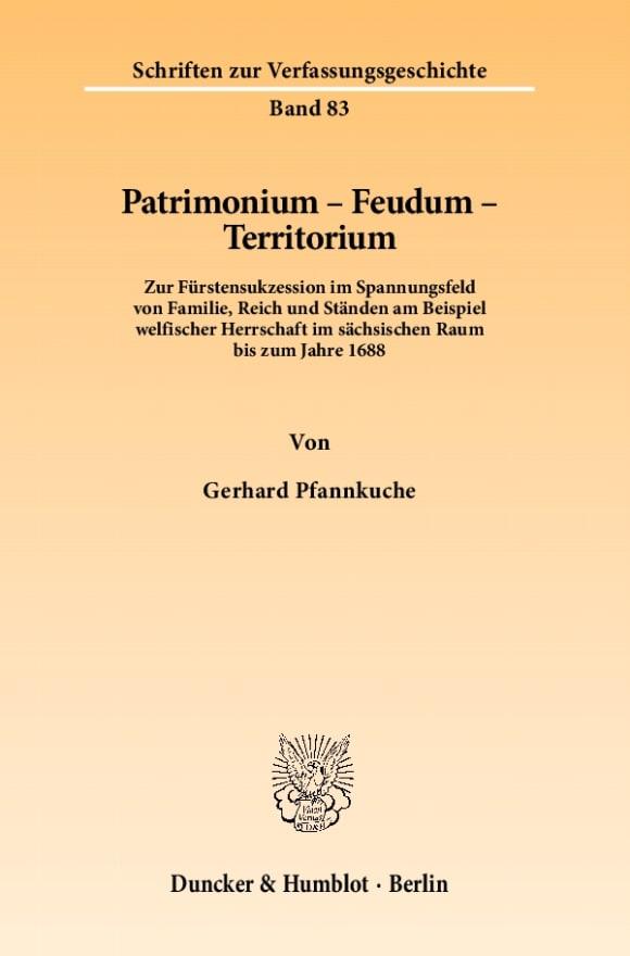 Cover Patrimonium - Feudum - Territorium