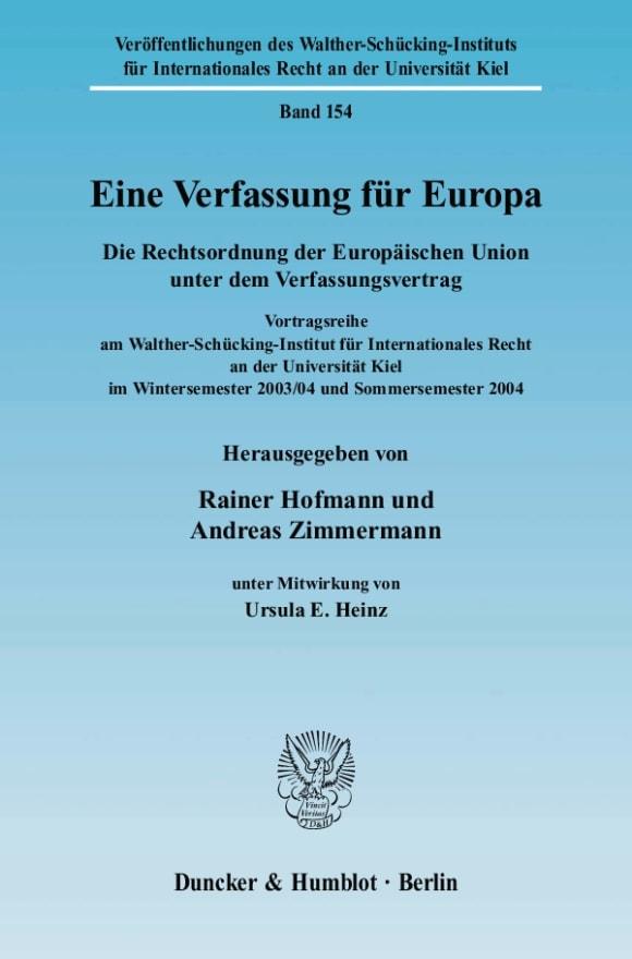 Cover Eine Verfassung für Europa