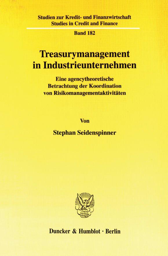 Cover Treasurymanagement in Industrieunternehmen