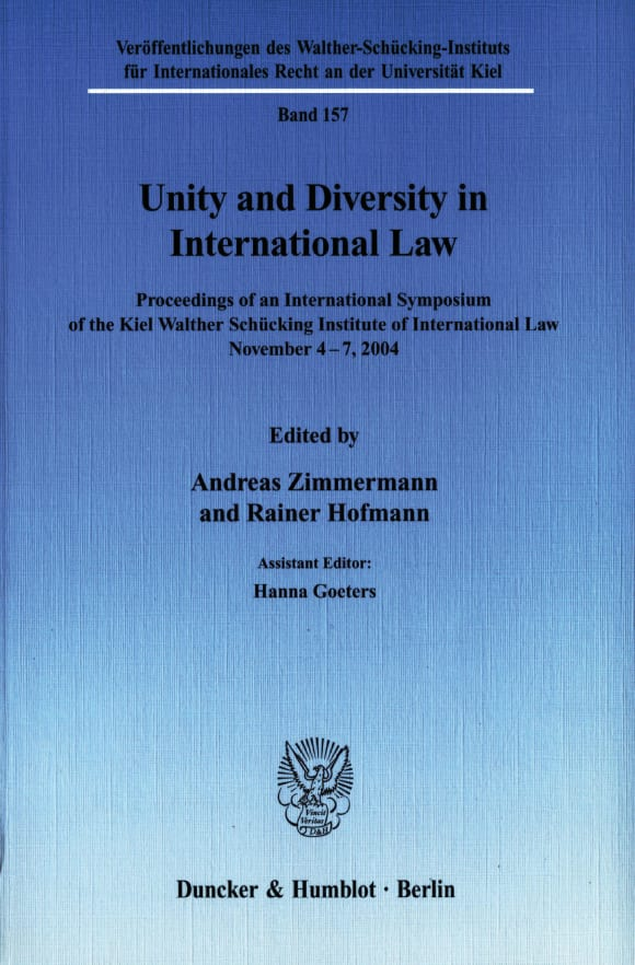 Cover Unity and Diversity in International Law