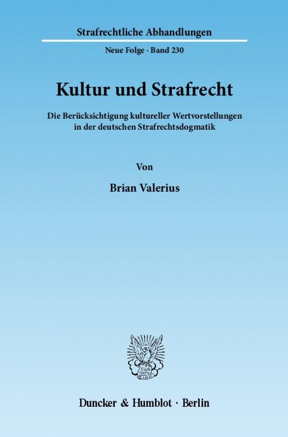 Cover Kultur und Strafrecht