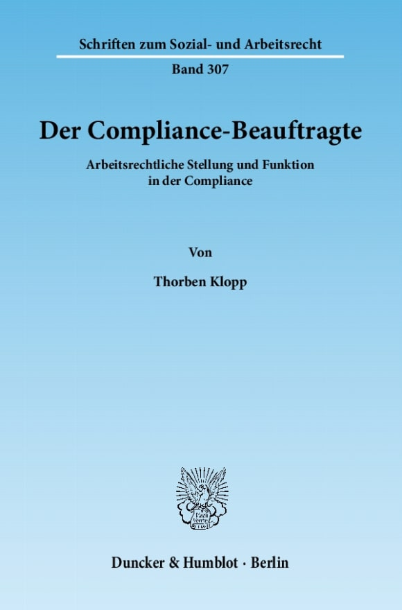Cover Der Compliance-Beauftragte