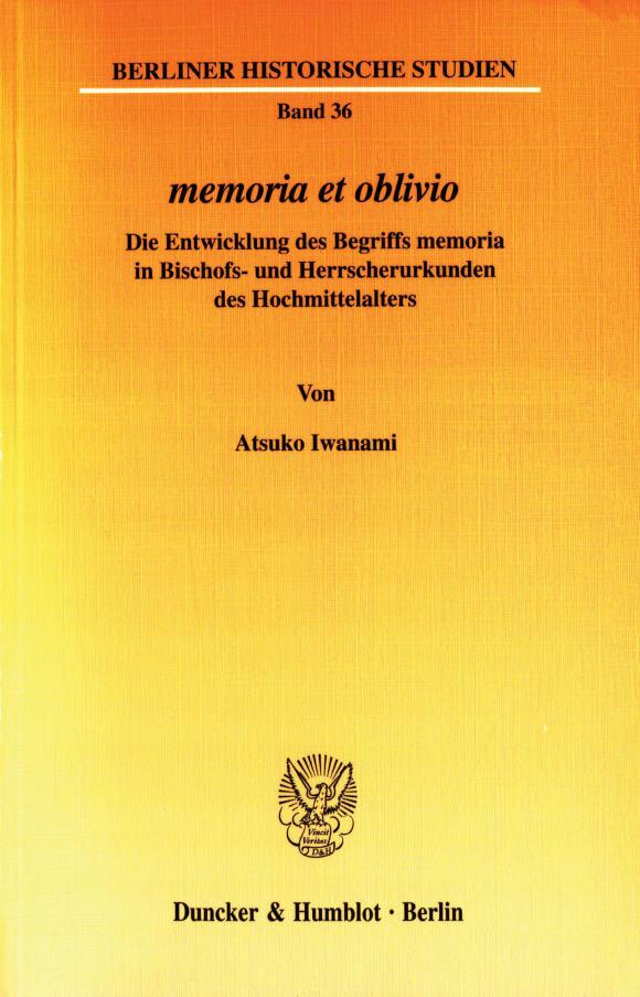 Cover memoria et oblivio