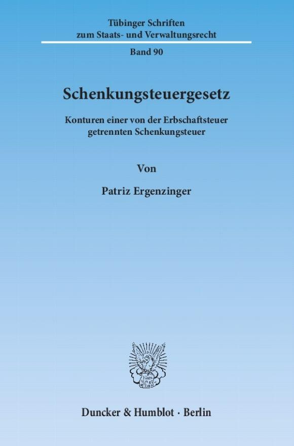 Cover Schenkungsteuergesetz