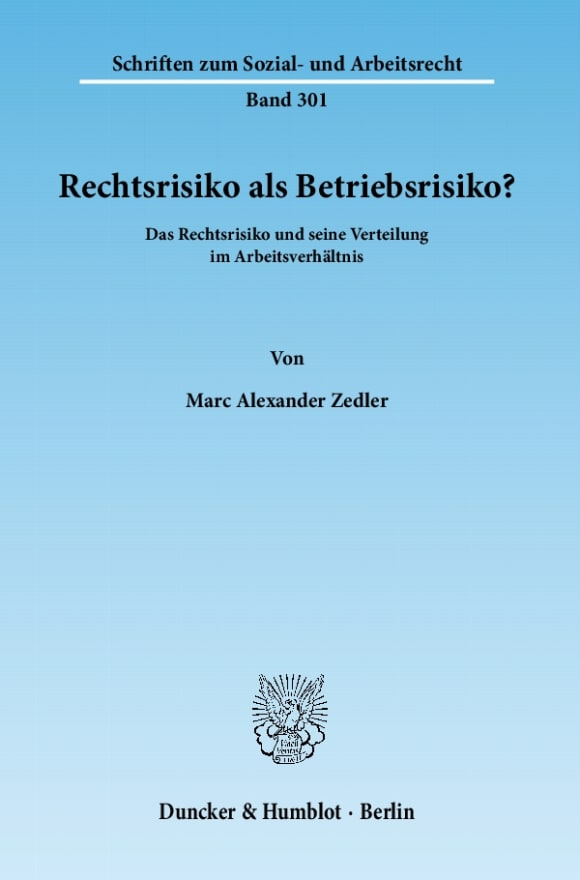 Cover Rechtsrisiko als Betriebsrisiko?