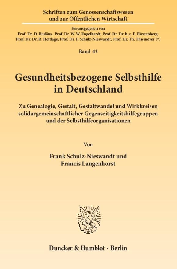 Cover Gesundheitsbezogene Selbsthilfe in Deutschland