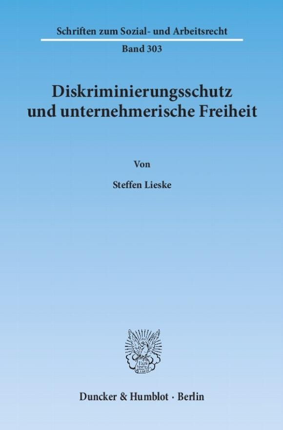 Cover Diskriminierungsschutz und unternehmerische Freiheit