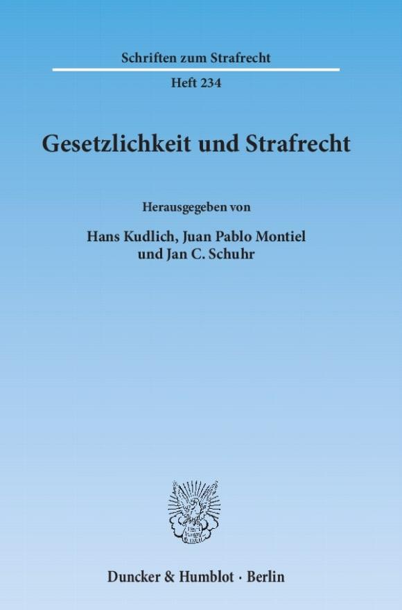 Cover Gesetzlichkeit und Strafrecht