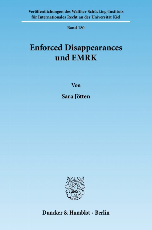Cover Enforced Disappearances und EMRK