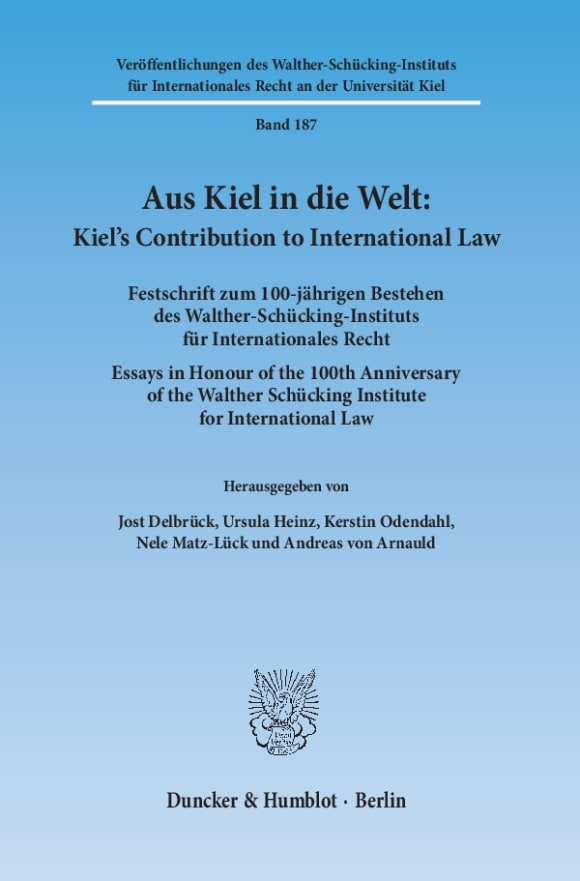 Cover Aus Kiel in die Welt: Kiel's Contribution to International Law