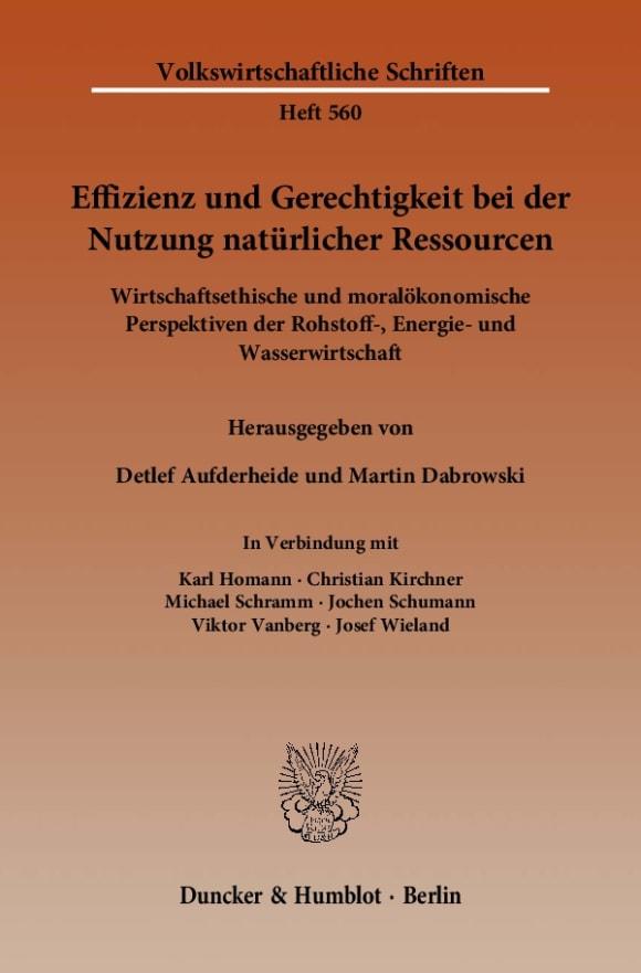Cover Effizienz und Gerechtigkeit bei der Nutzung natürlicher Ressourcen
