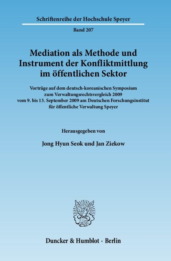 Cover Mediation als Methode und Instrument der Konfliktmittlung im öffentlichen Sektor