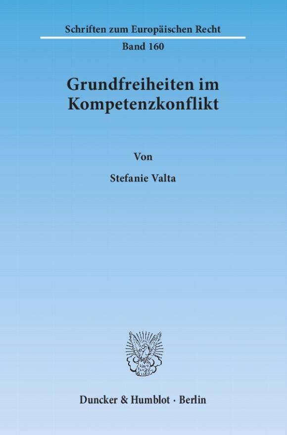 Cover Grundfreiheiten im Kompetenzkonflikt