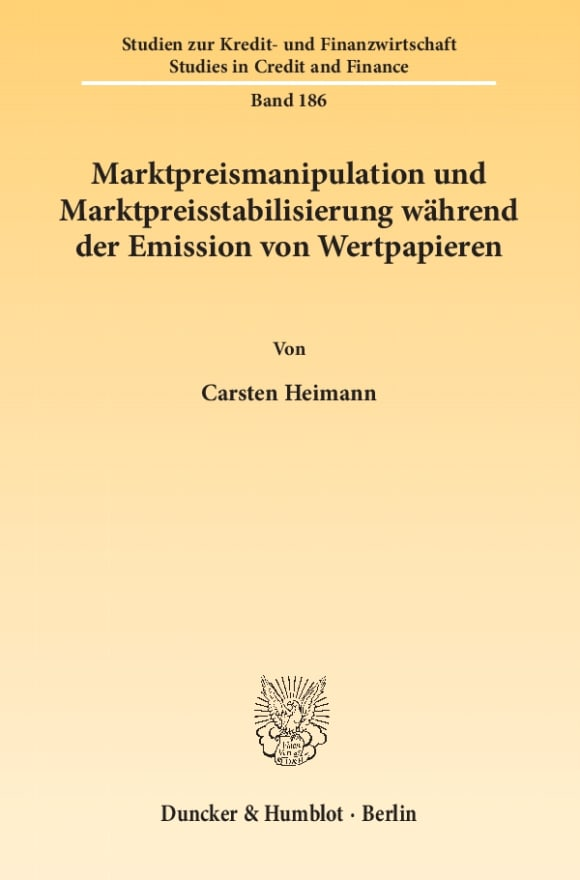 Cover Marktpreismanipulation und Marktpreisstabilisierung während der Emission von Wertpapieren