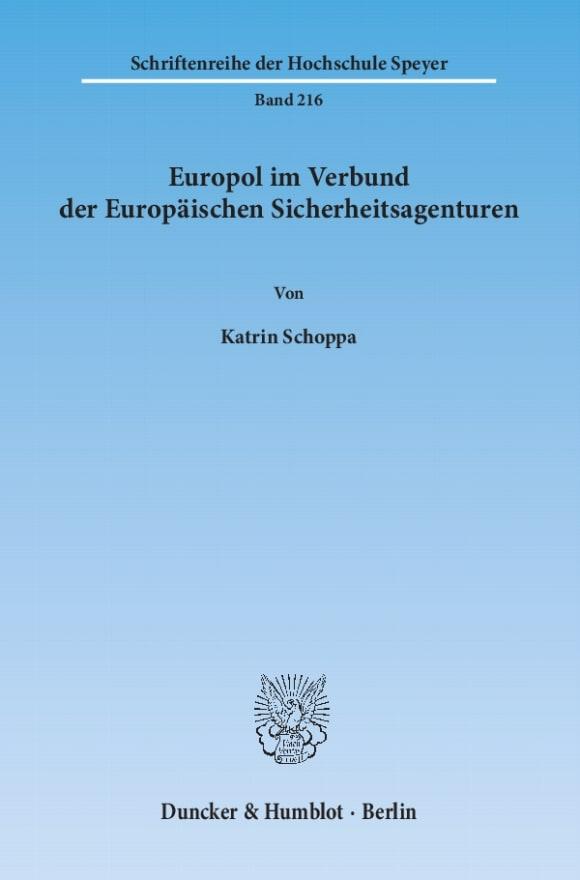 Cover Europol im Verbund der Europäischen Sicherheitsagenturen