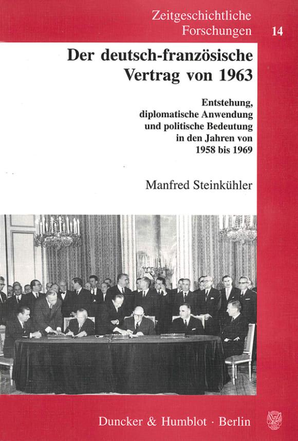Cover Der deutsch-französische Vertrag von 1963