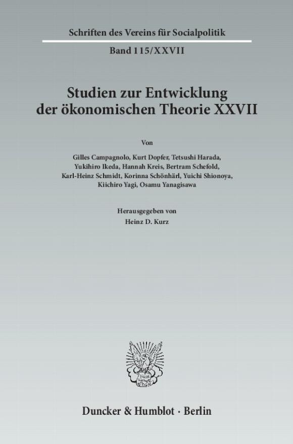 Cover Der Einfluss deutschsprachigen wirtschaftswissenschaftlichen Denkens in Japan