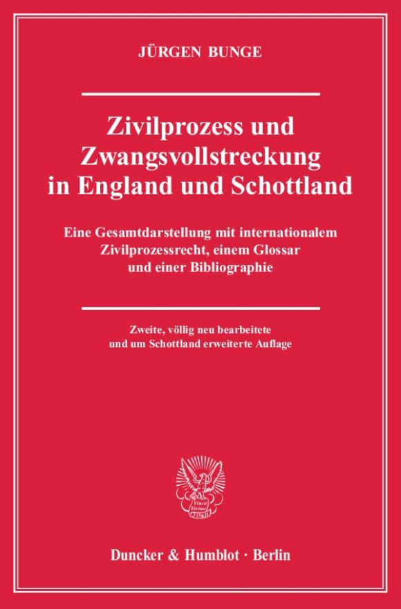 Cover Zivilprozess und Zwangsvollstreckung in England und Schottland