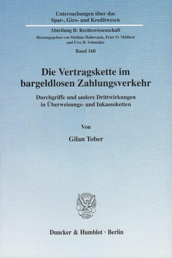 Cover Die Vertragskette im bargeldlosen Zahlungsverkehr