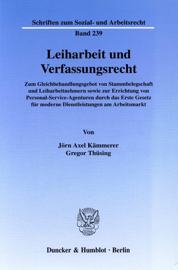 Cover Leiharbeit und Verfassungsrecht