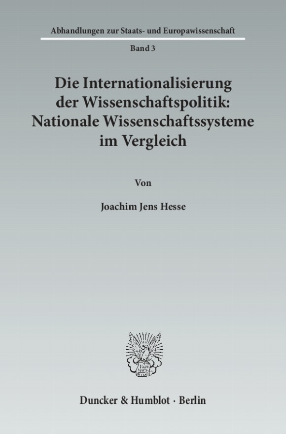 Cover Abhandlungen zur Staats- und Europawissenschaft (ASE)