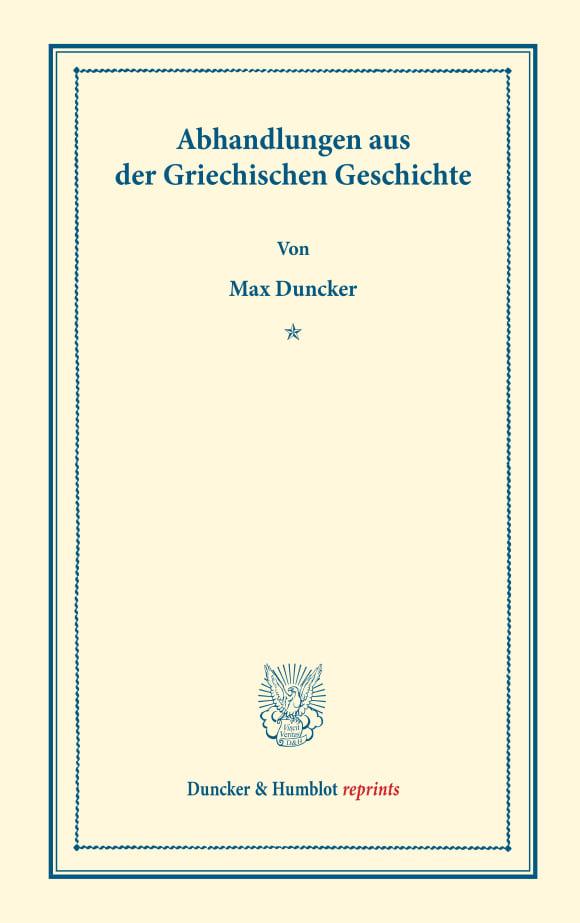 Cover Abhandlungen aus der Griechischen Geschichte