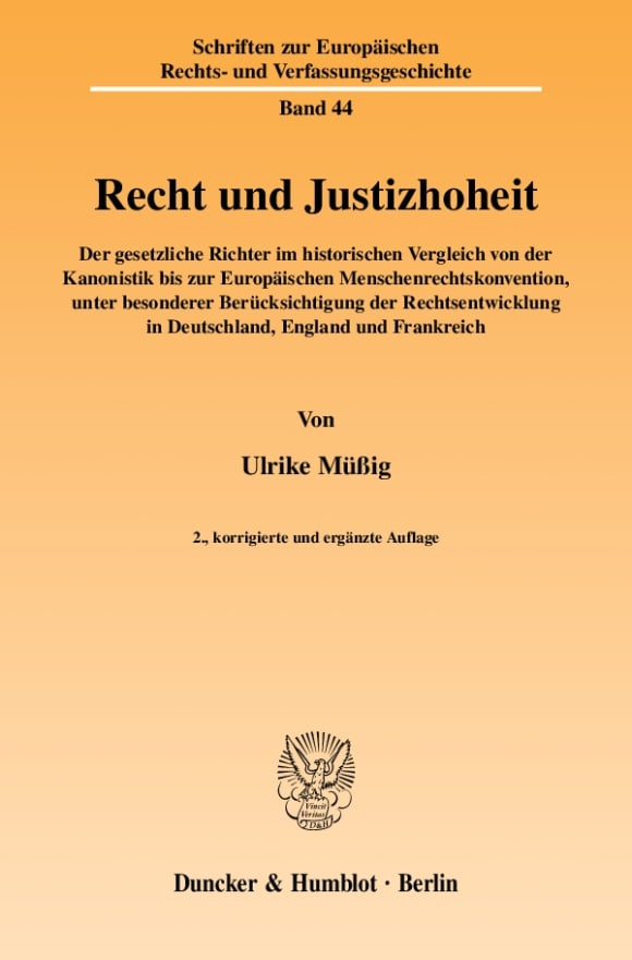 Cover Recht und Justizhoheit