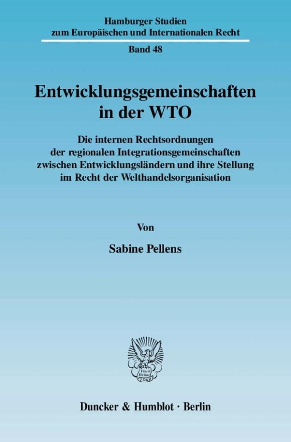 Cover Entwicklungsgemeinschaften in der WTO