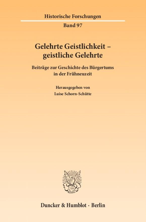 Cover Gelehrte Geistlichkeit – geistliche Gelehrte
