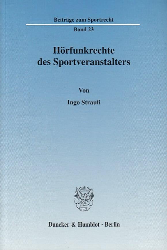Cover Hörfunkrechte des Sportveranstalters